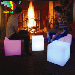 16 RGB 조명 색상 LED 큐브 의자(배터리 포함