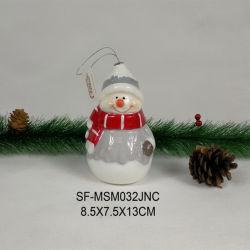 Weihnachtsdekoration-Weihnachtsmann-Form-keramische Serie 2020 mit LED-Lichtern