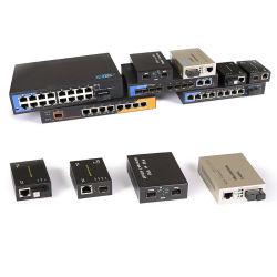 Сетевая плата Ethernet 10/100m/1000m оптоволоконный 10g 20км SFP порт RJ45 Оптоволоконной Media Converter с Sc/LC/Разъем St