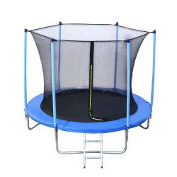 8FT 아이 순수한 옥외 Trampoline 안쪽에 파란 체조 적당 보조 조절 장치