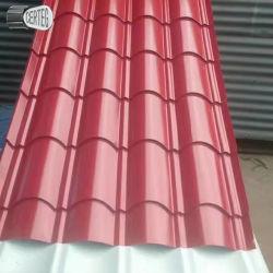 Кровля из гофрированного картона PPGI листов металла строительных материалов ширина820/760 для черепичной крышей