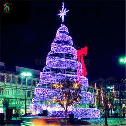 Piscina gigante enorme iluminado Natal iluminado 3D Motif Árvores do Cone