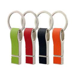 Minischlüsselblitz-Laufwerk ring USB2.0 /3.0 ledernes des USB-Feder-Laufwerk-8GB 16GB 32GB