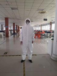 China fabricante químico reutilizáveis fatos-macaco resistentes