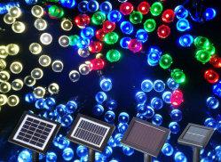 La stringa esterna solare di illuminazione degli indicatori luminosi leggiadramente del LED illumina gli indicatori luminosi solari degli indicatori luminosi di natale per il giardino di paesaggio