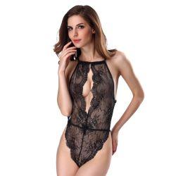 Femme érotique Spandex Latex classique femmes nues Lingerie Sexy teddy
