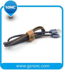 Mode de haute qualité Jeans Câble USB Chargeur pour téléphone