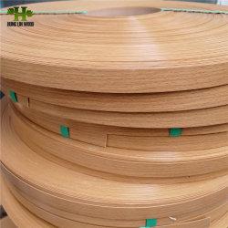 Vollfarbe/Holznarbe PVC Kantenverkleidung/PVC Kantenverzierung/Banderole für Möbelverkleidung
