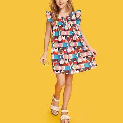Подробно Ruffle Argyle платье для печати