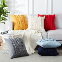 L'ammortizzatore di lusso di miscela delle lane riguarda il coperchio decorativo del cuscino di manovella delle federe moderne per la decorazione della casa dell'automobile della camera da letto dello strato