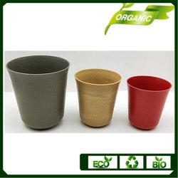Colores surtidos de fibra de bambú Biodegradable Maceta Jardín Maceta