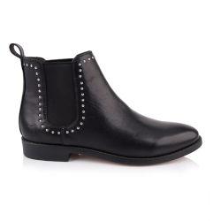 Dernière conception de la mode des chaussures de cuir plat de la TOE ronde cheville Chelsea Boot