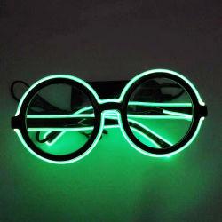 Nouveauté Clignotant LED Frame verres de lunettes rondes Light up verres pour les Parties et les rassemblements