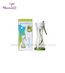Plastic Healthy manual Mixing Cup, bull ring Cup 9.8*20cm