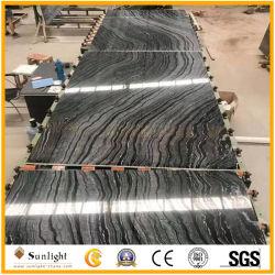 Cher la Chine antique en bois noir antique en marbre pierre granuleuse