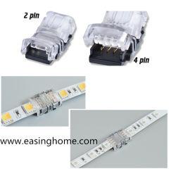 Led Strip Connectors 2-Pins/4-Pins/5-Pins Led Strip Accessoires Snel En Eenvoudig Te Installeren Led Strip Lighting Connector Alternatief Voor Solderen