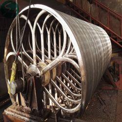 Molde de cilindro de acero inoxidable para la industria de pulpa de papel