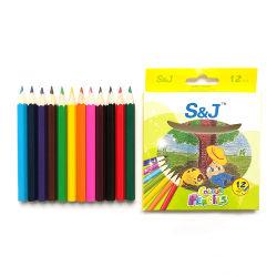 """Logo personnalisé 3,5"""" en bois de petite 12 crayons de couleur définie pour l'artiste croquis"""