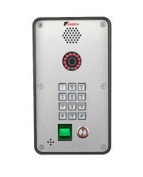 Entrée de porte d'empreintes digitales interphone vidéo IP sonnette Door Phone