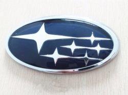 Logotipo do carro personalizado monograma cromado Subaru emblema da cabeça do carro