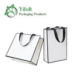 Groothandel Luxe Karton papieren handtassen, Winkeltas, Gift Tote Bag met Ribbon handvat