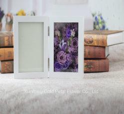 Горячие продажи новых подарок вечную сохранить цветок фиолетовый закрывается подарок рамка для фотографий для проведения свадеб оформление
