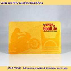 13.56MHz 1K de PVC plástico chino tarjeta RFID para Assets-Management inteligente