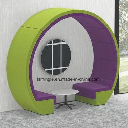 Gewebe-Typ Mond-Sofa/Büro-Sitzungs-Stand mit runde Form-Oberseite