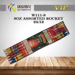 옥외 소비자 불꽃 놀이 붉은 악마 분류한 로켓 조명신호탄 Fuegos Artificiales가 W111-8-8oz에 의하여 로켓 분류했다