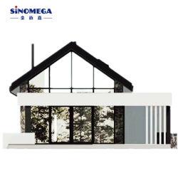 Bajo costo de China hizo el panel de pared de hormigón ligero Panel AAC moderno impresionante casa pequeña con entresuelo 2 Dormitorios Casa de estructura de acero prefabricados