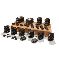 54 PCS Energy Pedra de massagem com pedras quentes massagem com pedras quentes SPA definida