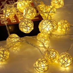 크리스마스 옥외 정원 훈장 등나무 공 요전같은 LED 끈 빛