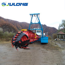fiume di pompaggio di dragaggio della macchina della sabbia motorizzata diesel di capienza di 1200m3/H CSD300 che estrae la draga di galleggiamento del fango dell'argilla del limo di prezzi bassi di aspirazione della taglierina della draga
