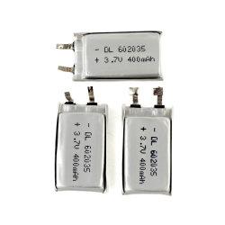 602035 3,7 V 400mAh Batterie Li-polymère rechargeable pour un périphérique numérique
