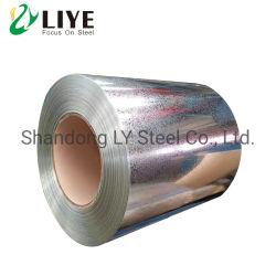 China fábrica de molino de fabricación Gi PPGI Alu galvanizado recubierto de zinc Galvalume bobinas de acero para techos de materiales de construcción