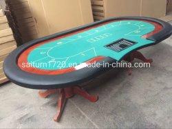 Mesa de pôquer personalizados/Casino Tabela com o concessionário local com prateleira amovível sentida com a perna de pau