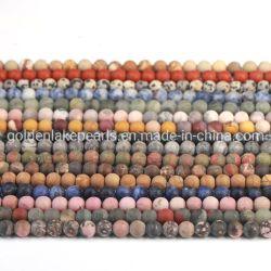 Multi Semi mat de pierres précieuses perles de pierres naturelles pour la fabrication de bijoux