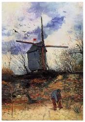 Les artistes célèbres Huile sur toile, Masterpiece Huile sur toile, Le Moulin de La Galette (1886d'années) -Vincent Van Gogh