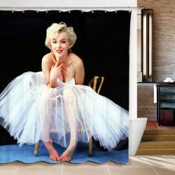 La función ecológica de poliéster impermeable cortina de ducha