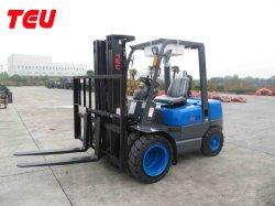 China Teu 3000kg / 3ton Automático Diesel Energía Hidráulica Tcm Tecnología Contenedor Isuzu Motor Electrónico Cambio Carretillas Elevadoras