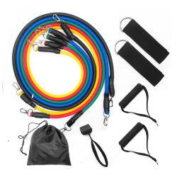 Gym Fitness Widerstandsband Set 11 Stück mit Übungsröhrenbändern, Türanker, Knöchelriemen Carry Bag Fitness Stretch Workout Trainingswiderstandsbänder