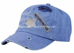 Applique Embroider를 가진 데님 Washed Sport Cap Baseball Cap
