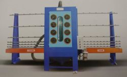 PS1500b電気制御の輸送を用いる半自動ガラスサンドブラスティング機械