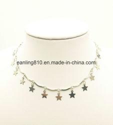 Estrella elegante Collar Gargantilla lentejuelas joyas de moda para mujer