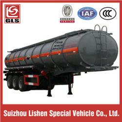 3 ESSIEUX 20000L du réservoir de liquide chimiques corrosifs semi-remorque