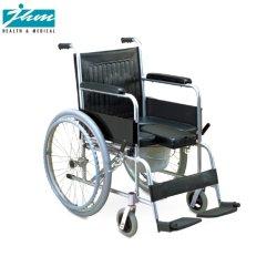 Estructura de acero plegable de acero móvil cómoda orinales wc Silla de Ruedas silla retrete sentarse para desactivar o Ancianos