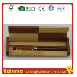 Metal Fonte de madeira caneta no dom de madeira caixa de seleção de artigos de papelaria e Dom
