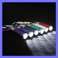 Llavero mosquetón se centran en el exterior de aluminio ajustable Mini linterna llavero linterna LED de color de gancho (LED401)