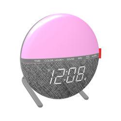 Pantalla LED Digital Reloj Despertador con regulador de la luz de la noche cambia de color 7