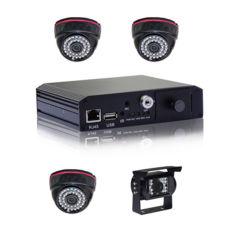 Base de la carte SD 4CH Mobile voiture DVR enregistreur numérique DVR mobile pour véhicule, 4 canaux, D1/HD1/CIF, 3G, comprennent les GPS